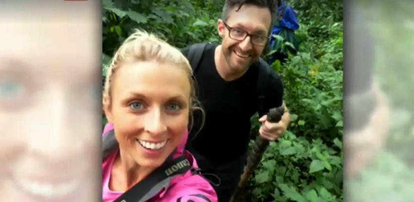 Gemma Cosgriff and her husband Damian trekked into the mountain Gorilla territory in Rwanda for Honeymoon