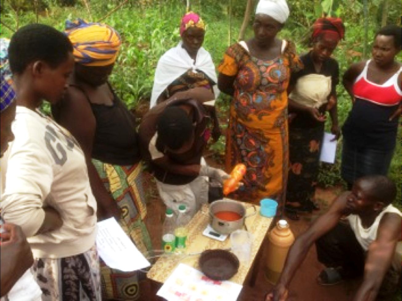 Women under 'Dukundane' cooperative in Ruhashya sector, Nyanza sector