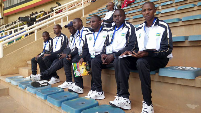 Rwandan players at EAC Military games in Uganda last year