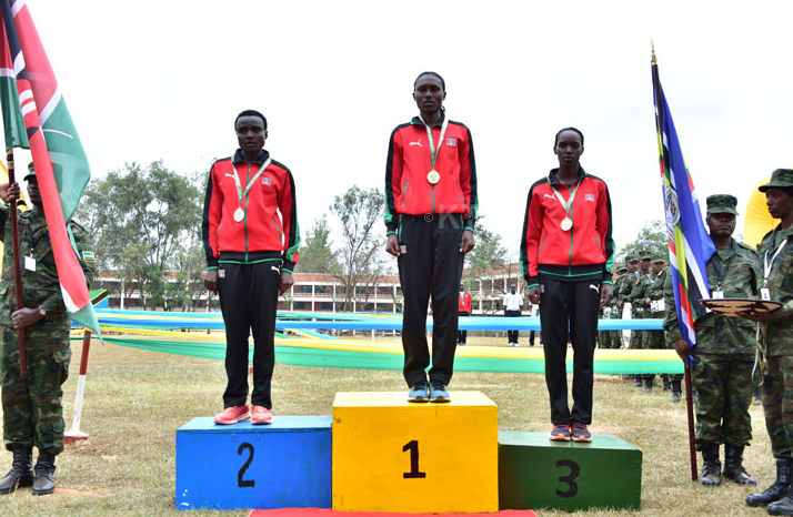 Kenyan Team get medals at the East African Military Games and Cultural Event in Kigali,Rwanda