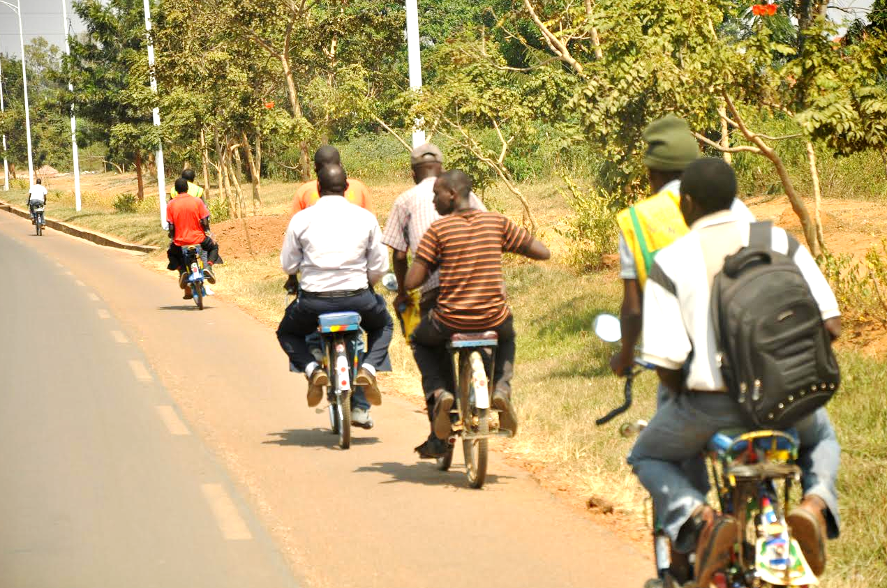 Bicycle taxi operators riding their clients. The Business has become lucrative