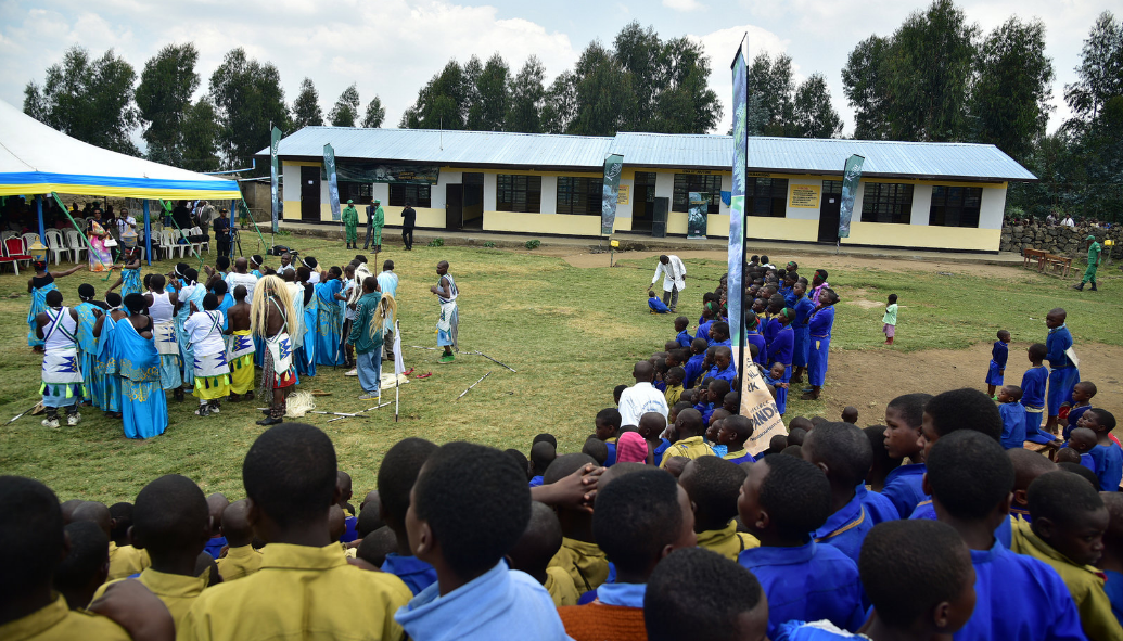 New classrooms built at Kanyove Primary school located outside Volcanoes National Park