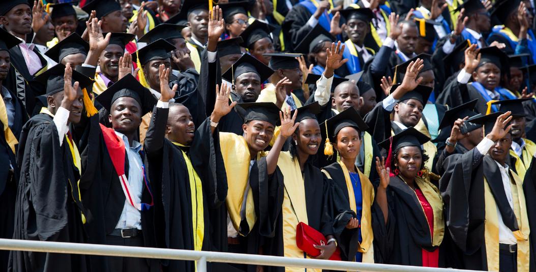 Students at University of Rwanda's 3rd Graduation Ceremony