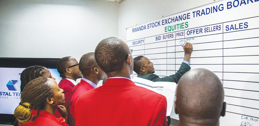 Brokers at the Rwanda Stock Exchange