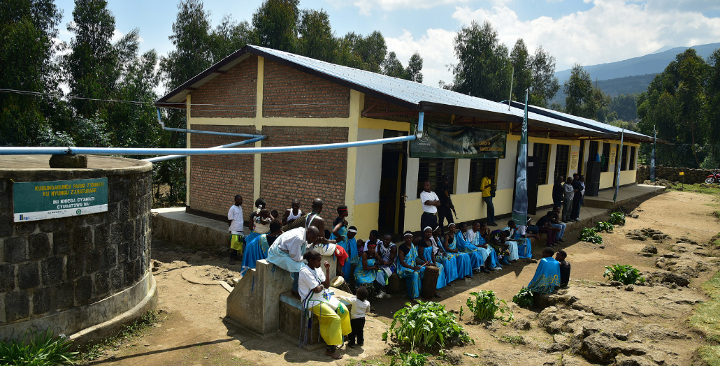 The new classrooms also have a water tank for rainwater harvest
