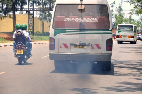 Bus spewing dark fumes considered very toxic