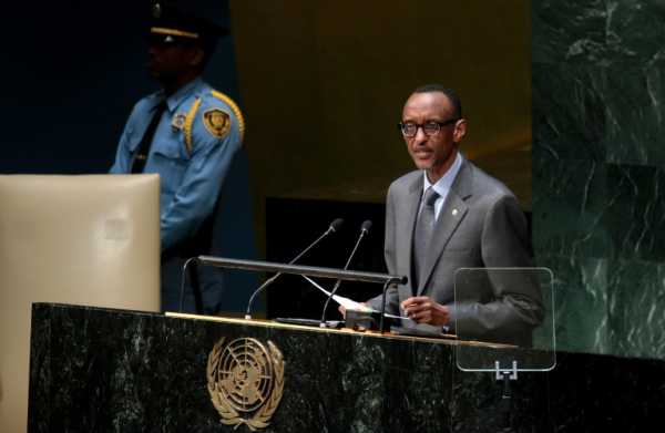 President Paul Kagame addressing the 71st United Nations General Assembly