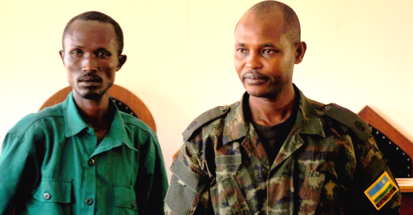 Nsanzimfura Mamelito(l) and his brother Maj .Dr. Aimable Rugomwa co-accused in a murder case