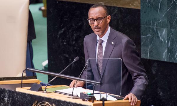 President Paul Kagame speaks at the 71st UNGA