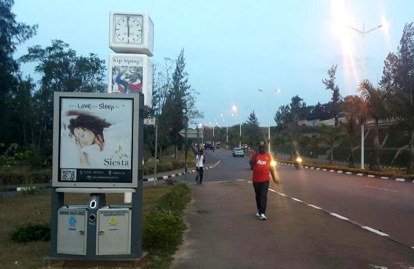 Digital billboard with dump bin