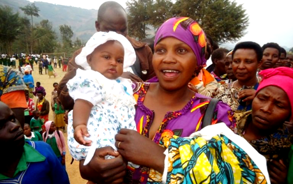 Beatrice Cyomugisha happy after she was reunited with her two-month old baby that had been stolen