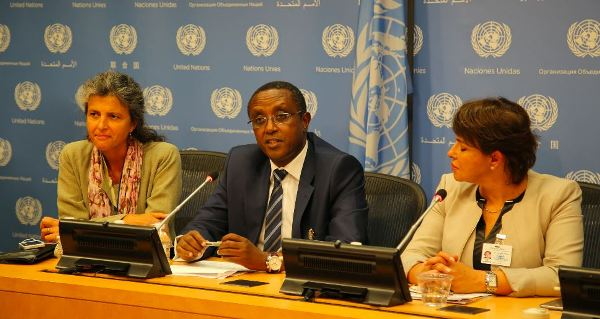 Rwanda's Minister of Natural Resources, Dr Vincent Biruta, and Morocco's Minister of Environment, Dr Hakima El Haite