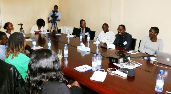 Local Journalists during a training session on how to tell the true African story