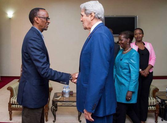 US Secretary of State at Village Urugwiro