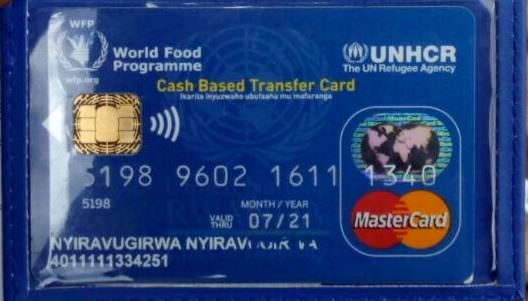 ATM cards issued to refugees in Rwanda