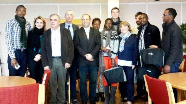 Rwandan delegation received in Gennevilliers, France
