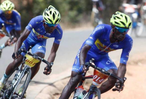 Kenyan cyclist currently in 8th position Tour du Rwanda