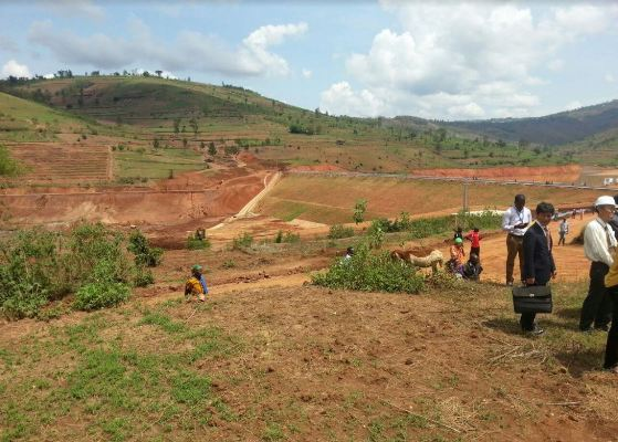Ngoma district is largely hilly. The massive water reservoir below will promote uphill irrigation
