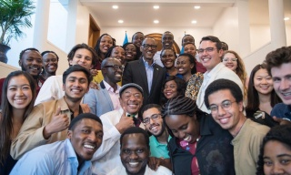 Kagame Meets Carnegie Mellon University Students