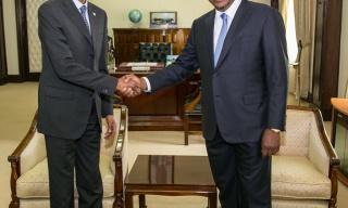 President Kagame, Kenya's Uhuru Kenyatta Hold Bilateral Talks in Nairobi
