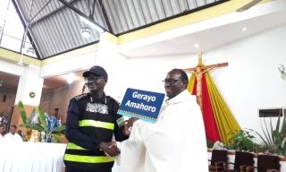Rwanda Police Take Up the Altar to Preach Road Safety Gospel