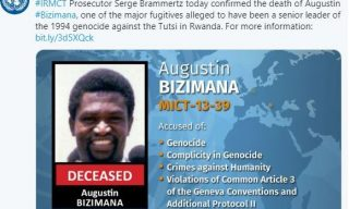 One of Rwanda's Major Genocide Fugitives Augustin Bizimana Confirmed Dead