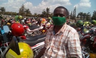 Taxi Moto Riders Warm up for their New Normal