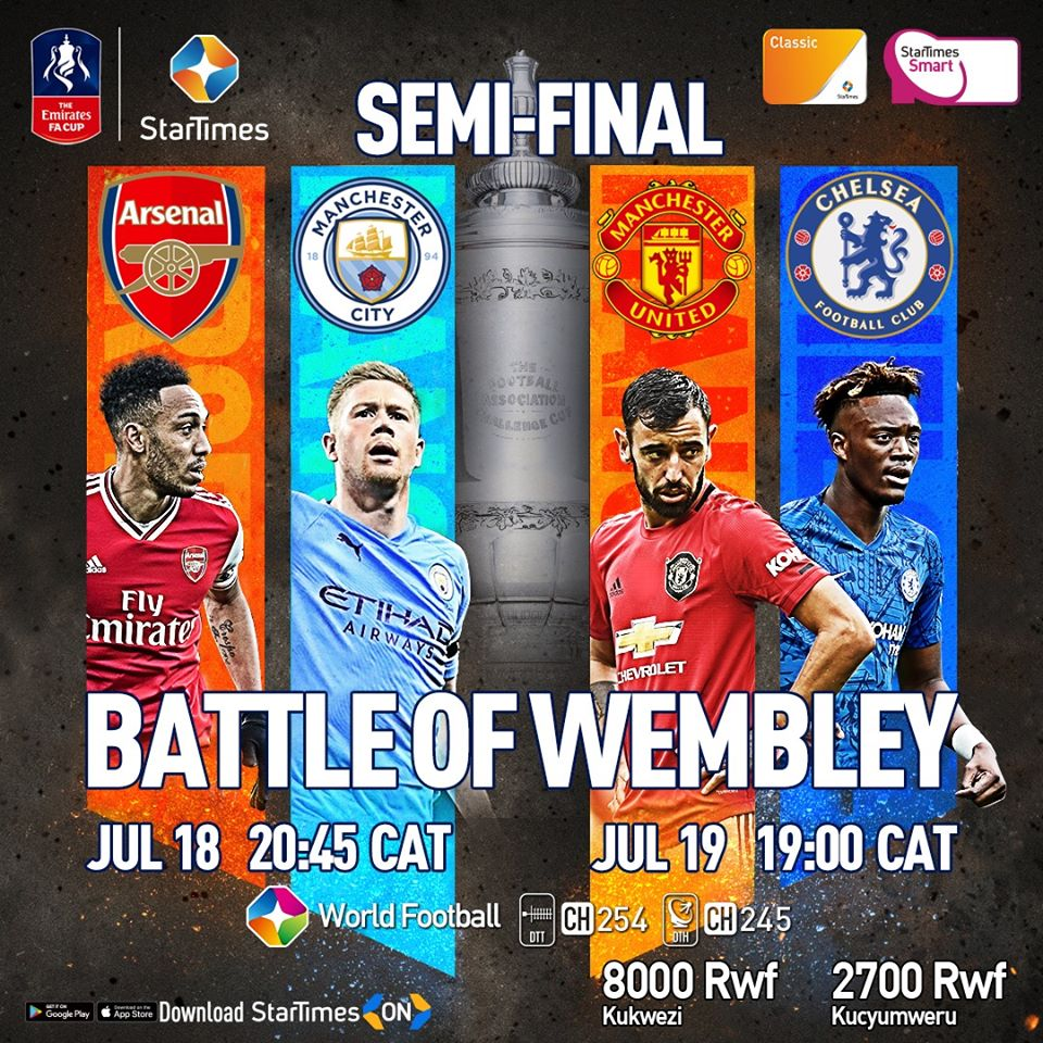 Featured Watch Emirates Fa Cup On Startimes Top Clubs Chasing A Wembley Date Kt Press