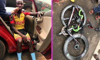 Tour du Rwanda Runner-up Mugisha Avoids Serious Injury In Scary Crash