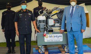 Rwanda National Police Receives Arms Crushing Machine
