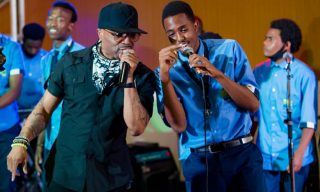 Rwanda School of Creative Arts and Music Thrills Superstar Teddy Riley