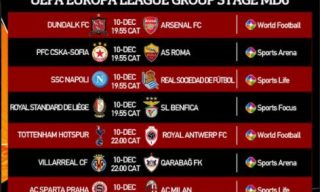 Watch UEFA Europa League on StarTimes: Final Group Game for Premier League Clubs