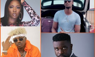Meddy Battling Tiwa Savage, Sarkodie and Rayvanny at MTV Africa Awards