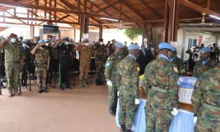 Minusca Pays Tribute to Rwandan Peacekeeper