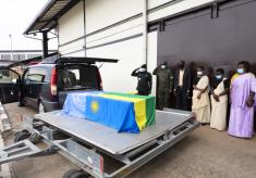 Body of Fallen Rwandan Peacekeeper Arrives Home
