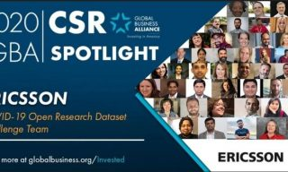 Ericsson Recognized for COVID-19 Response Leadership by Global Business Alliance