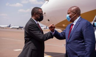 PICTORIAL: CAR President Touadéra Arrives in Rwanda for State Visit