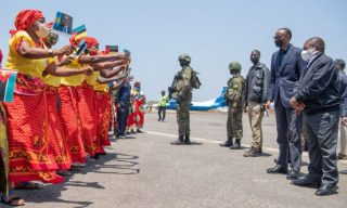 President Kagame In Mozambique for A Working Visit