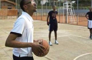 President Kagame Now Plays Basketball