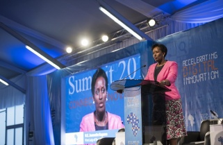 Rwanda's First Lady Signs For Getting More Women Connected