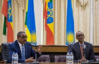 Kagame, Ethiopian PM Champion Africa as FDI Haven