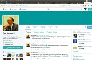 President Kagame hits a million twitter followers