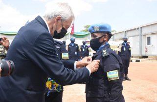 Rwandan Police Peacekeepers in South Sudan Awarded 'UN Service Medal'