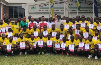 Arsenal Coaches deliver Attacking Football Philosophy to Rwandan coaches