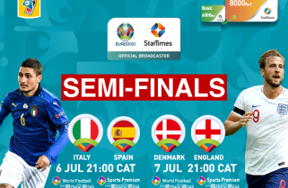 Euro 2020: England return home for semi-finals, live on StarTimes