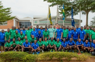 Arsenal FC Coaches in Rwanda for Football Clinic for Coaches