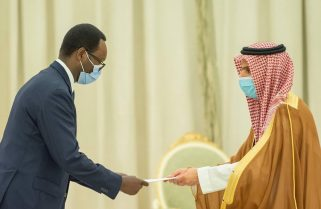 Rwanda's Envoy Presents Credentials to the King of Saudi Arabia