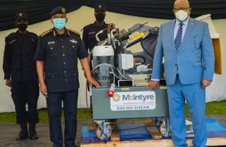 Rwanda National Police Receives Arms Crushing Machine