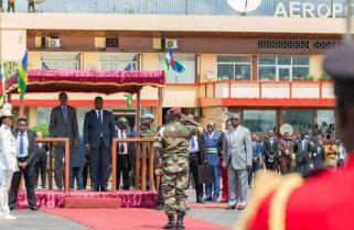 Kagame in Central Africa Republic for Official Visit