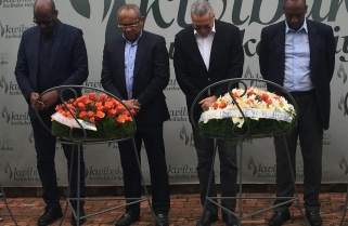 CAF President Ahmad Pays Tribute to Genocide Victims